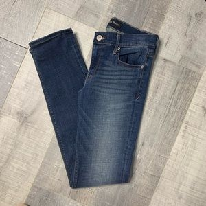 Express Skinny-Mid Rise Slightly Distressed Jeans